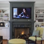 Using an Accent Color Around the Fireplace