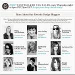Design Blogger Tastemaker Tag Sale at OKL