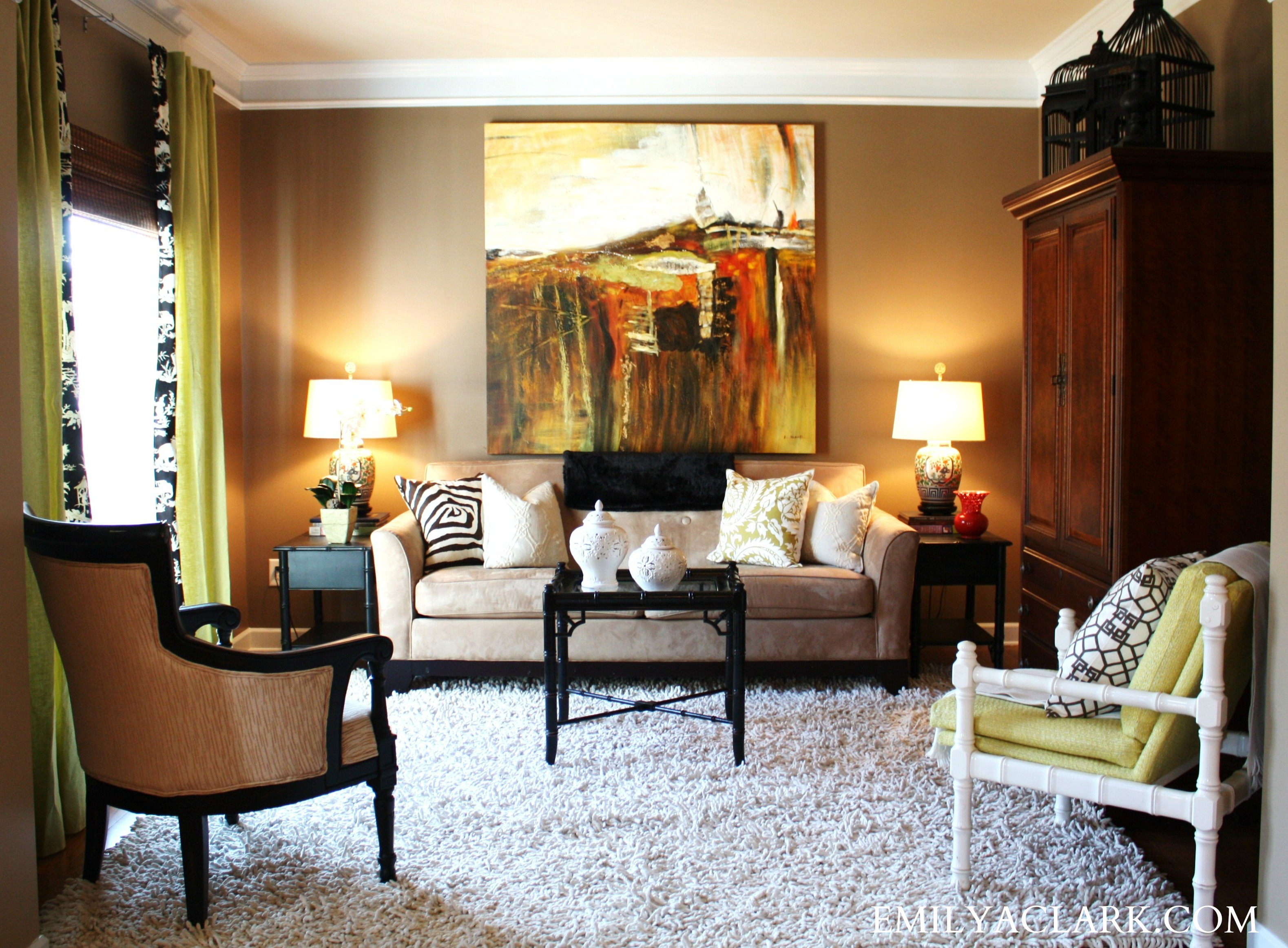 Exceptional Design Dilemma: What To Hang On The Big Wall Behind Your Sofa   Emily A.  Clark Idea