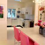 A Punch of Pink in the Dining Room