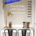 A Big (Cheap!) DIY Memo Board