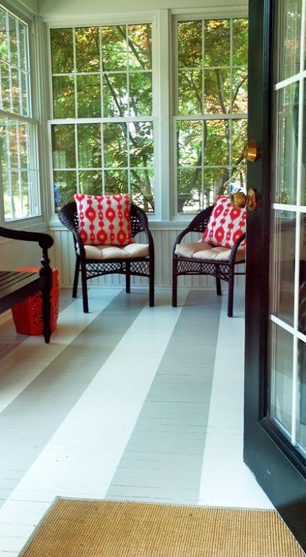 Painted Striped Floor Emily Clark