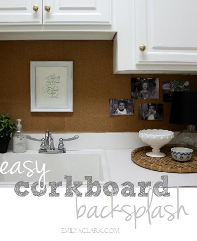Easy Corkboard Backsplash Emily A Clark