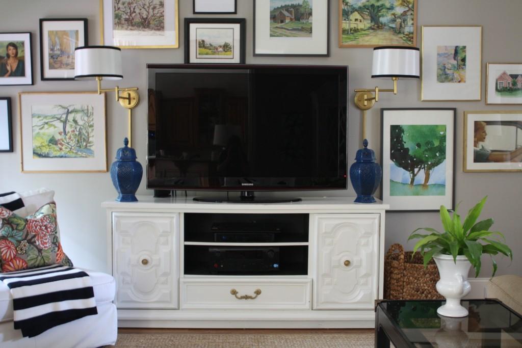 Using A Dresser As Our Tv Console Emily A Clark
