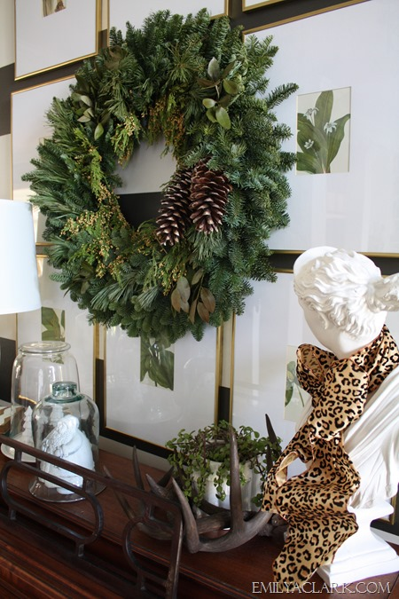 Foyer {Christmas home tour at emilyaclark.com}