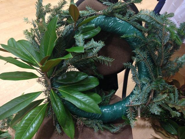 DIY fresh wreath