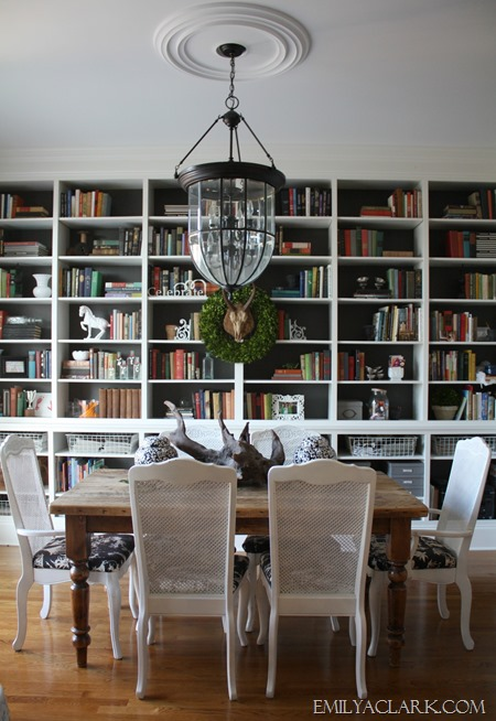 dining room {Christmas tour at emilyaclark.com}