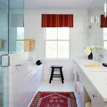 bathroom pops of color