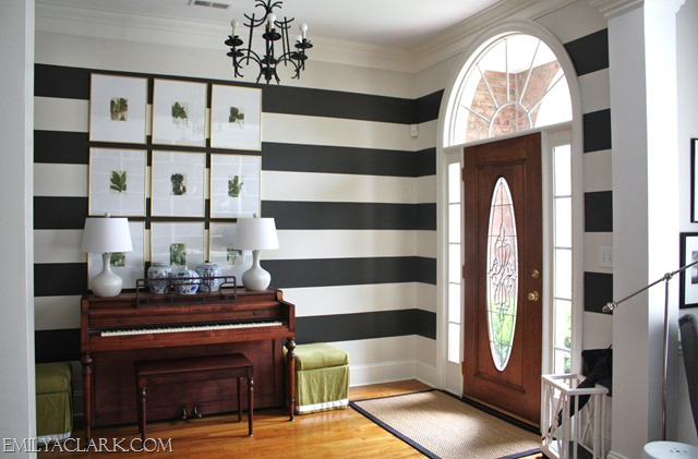 striped foyer