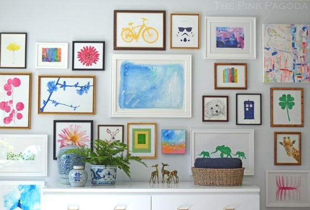 colorful-gallery-wall