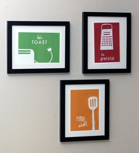 kitchen prints by Albie Designs