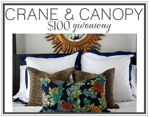 Crane & Canopy giveaway on emilyaclark.com