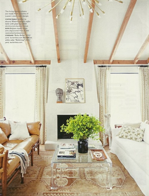 simple mantel styling via Domino (Lauren Liess home)
