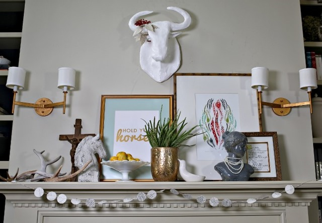 eclectic mantel (Life in Grace blog)