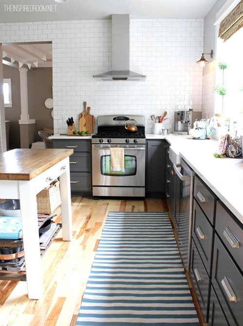 kitchen remodel via the Inspired Room
