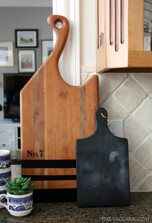 DIY painted cutting board