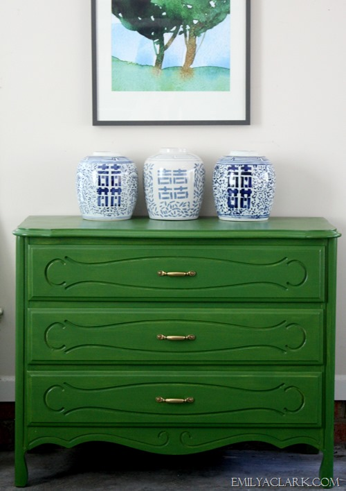 painted green chest
