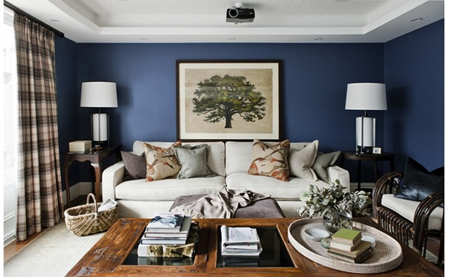 navy blue and gold living room a beautiful house emily a clark 24849