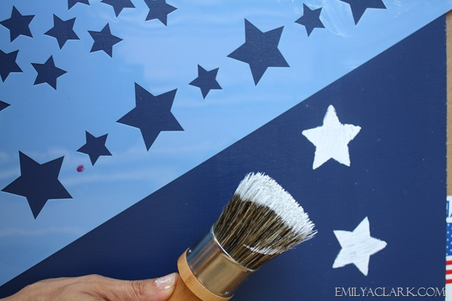 American Flag Star Stencil Painted-flag Stenciling Stars