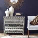 DIY Painted Furniture Inspiration: Chevron Bone Chest