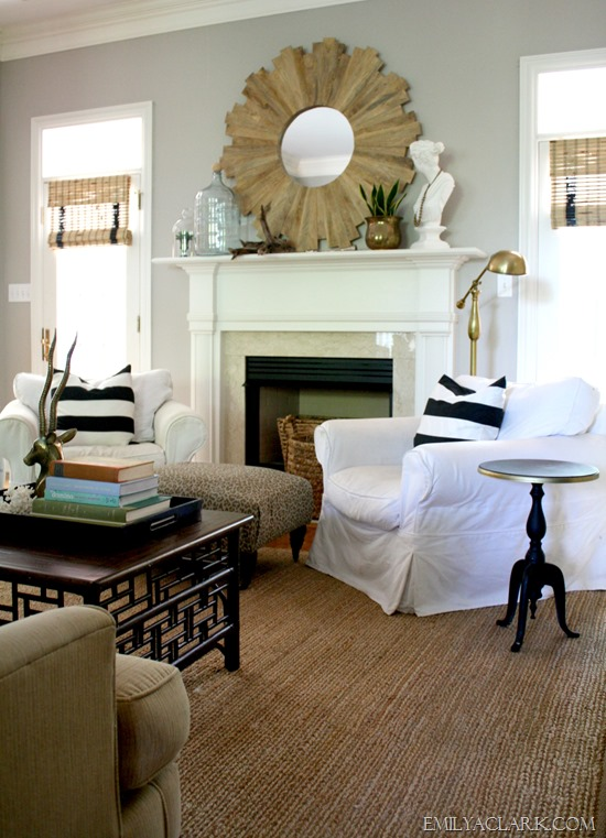 living room slipcovered chairs
