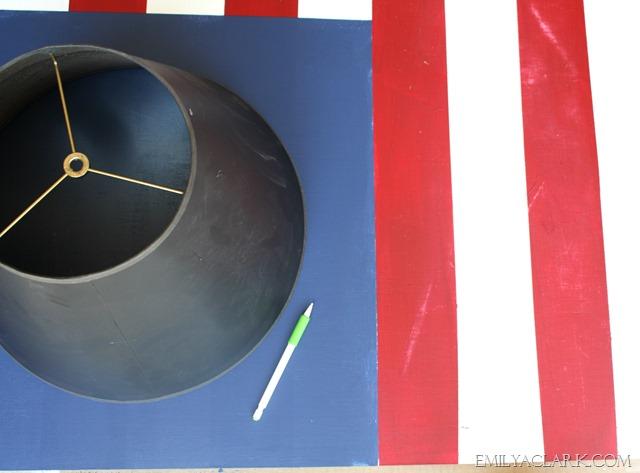 American Flag Star Stencil Painted-flag Stenciling Stars