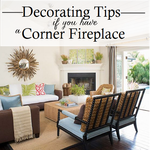 Working with a corner fireplace emily a clark Corner fireplace makeover ideas