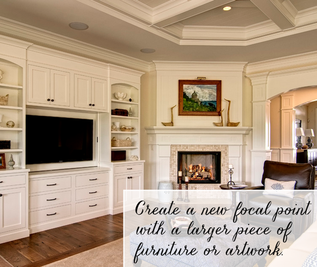 Design Living Room With Fireplace And Tv working with: a corner fireplace - emily a. clark