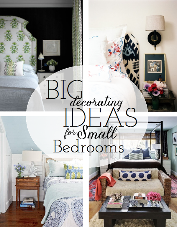 Working with a small master bedroom emily a clark for Bedroom decorating tips small space
