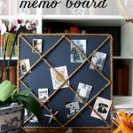 DIY Rope Memo Board
