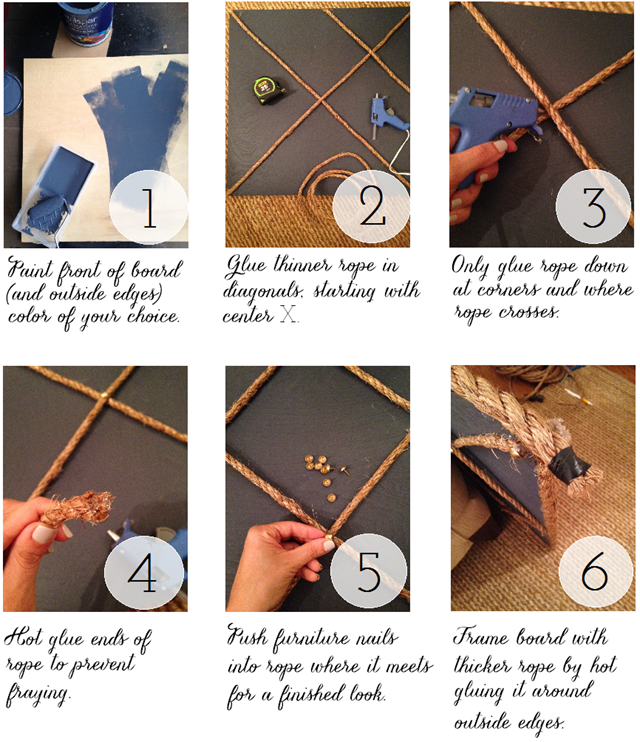 rope memo board step by step