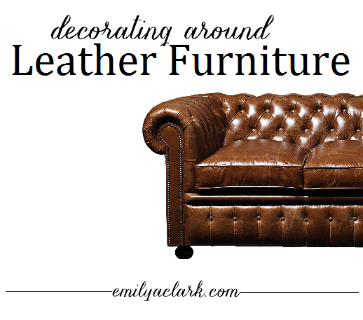 decorating around leather furniture