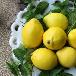 The Simplest Centerpiece: Lemons + Mint