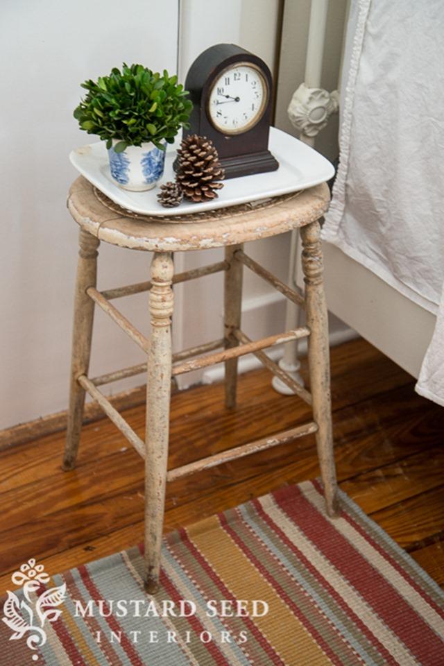 stool-bedside-table via Miss Mustard Seed