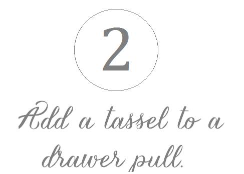 tassel on drawer pull