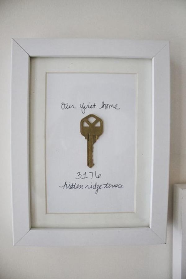 framed house key