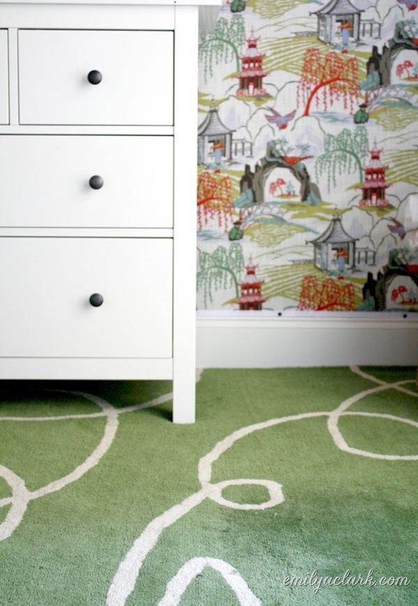 girls bedroom fabric wall