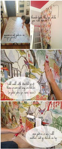 diy fabric wall in the girls bedroom emily a clark. Black Bedroom Furniture Sets. Home Design Ideas
