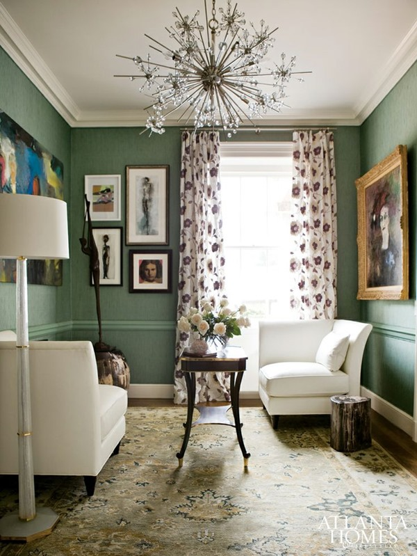 Design Planning Dark Green Walls Emily A Clark