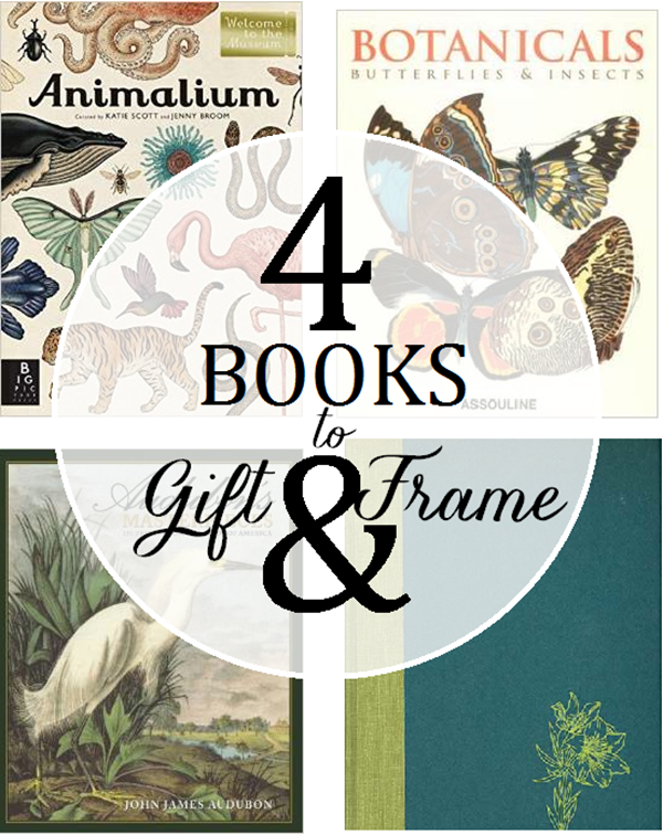 botanical and animal books to frame and gift