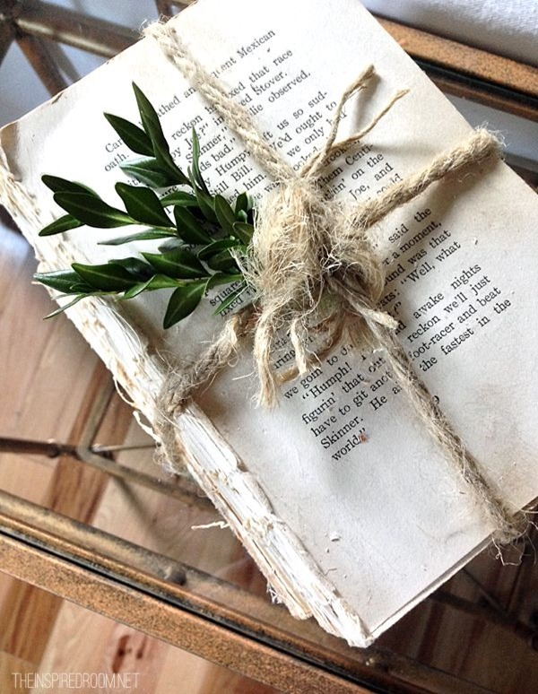 books with twine