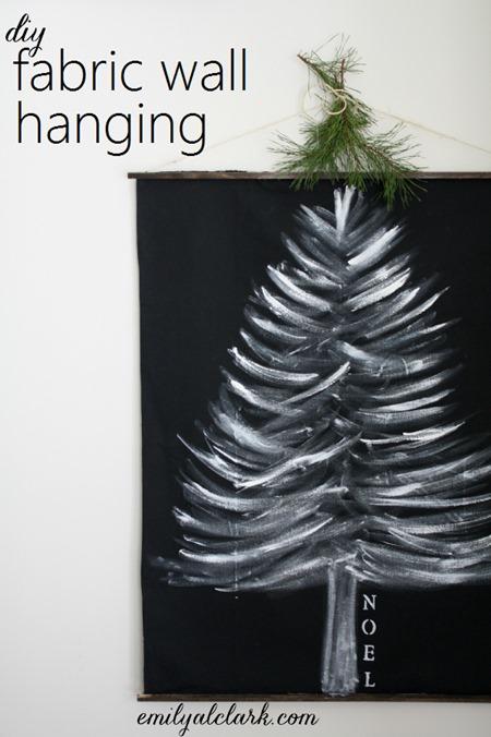 Diy Christmas Fabric Wall Hanging Emily A Clark