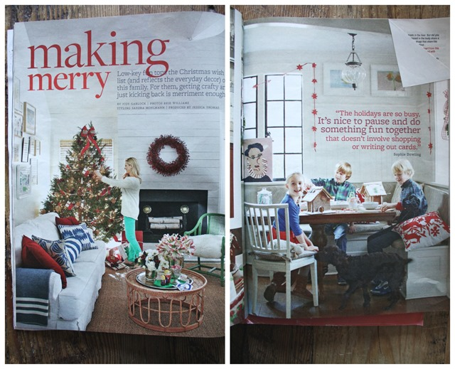 In year's past, I've turned toward catalogs (Wisteria, Pottery Barn, West Elm, etc.) for decorating inspiration where every nook and cranny is decked out.