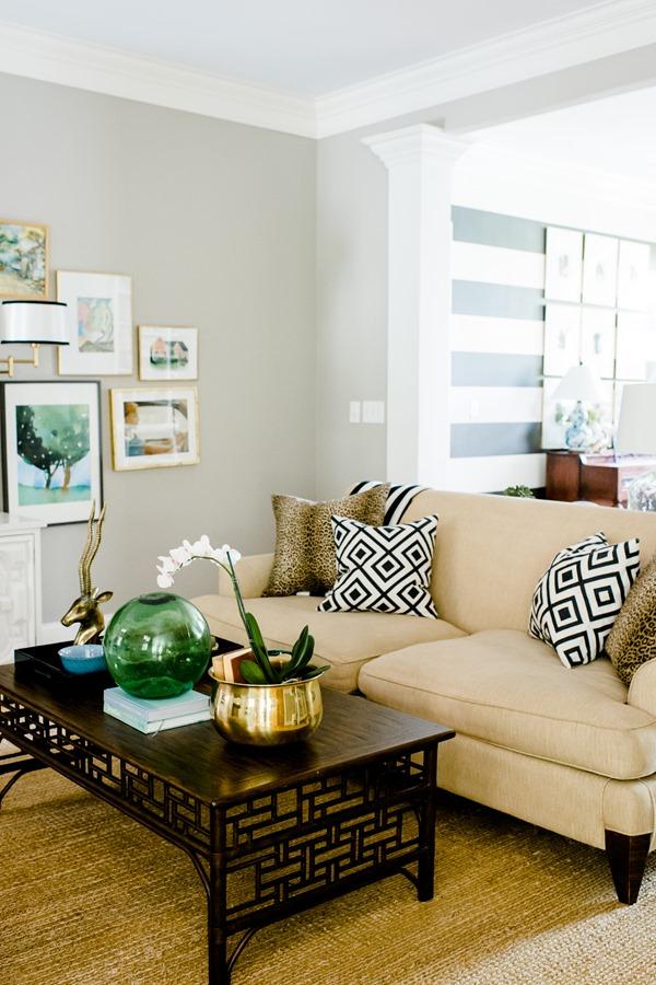 natural jute area rug in living room