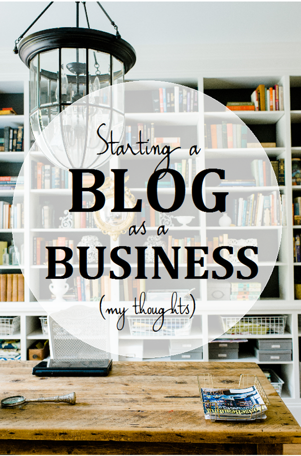 Advice for starting a blog as a business.