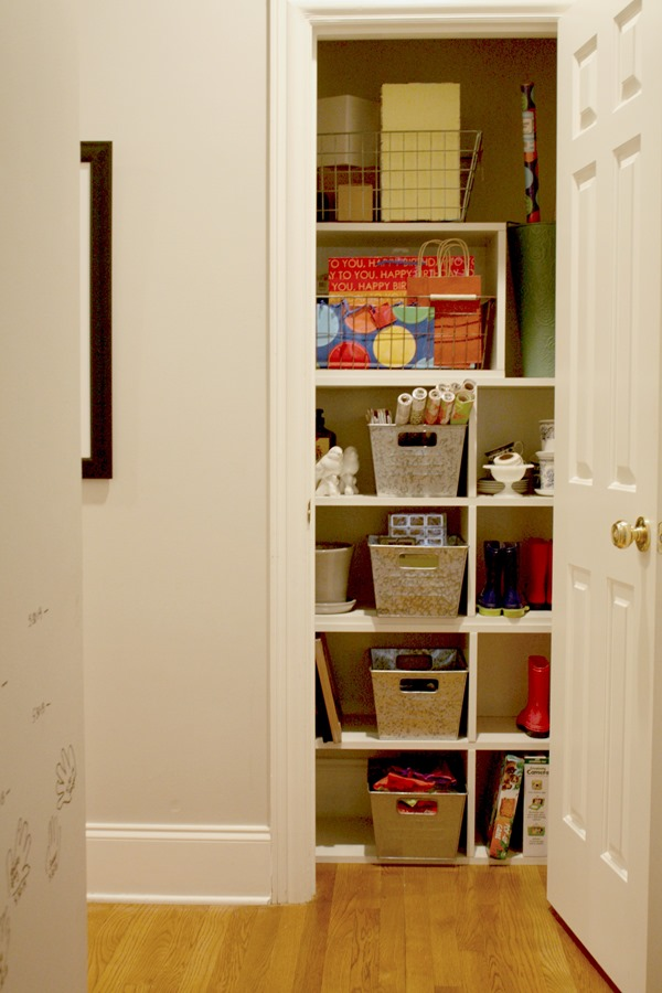 Organizing Our Messy Hall Closet Into A Gift Station