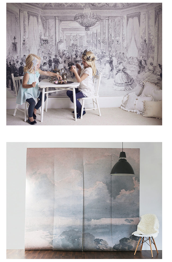 The big picture decorating with huge wall murals emily for Anthropologie wall mural