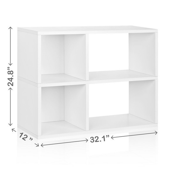 white-2-shelf-modern-bookcase-dimensions