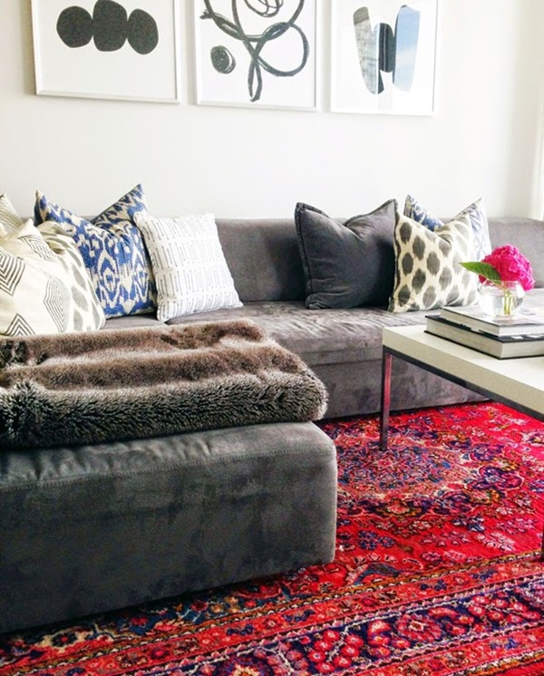 Modern Furniture With Oriental Rug decorating with oriental & persian rugs - emily a. clark