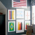 The Boys' Bedroom: A Framed Flag Wall